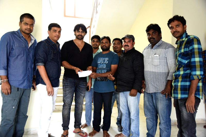 Hero Sai Dharam Teja, Dil Raju has given financial help to his fan who injured at Kakinada.