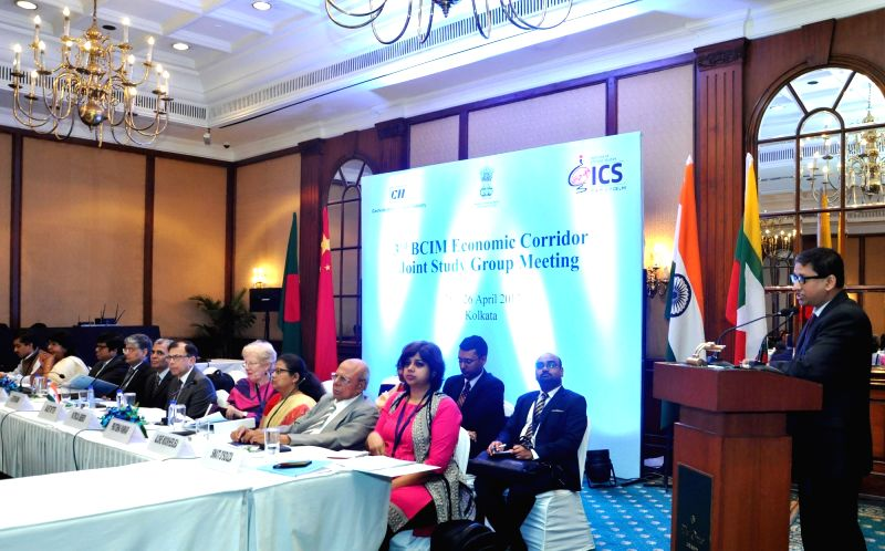 High Commissioner of Bangladesh to Sri Lanka, Riaz Hamidullah addresses during the 3rd Bangladesh-China-India-Myanmar Economic Corridor Joint Study Group (BCIM-EC-JSG) meeting in Kolkata, on ...