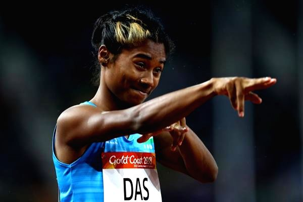 Hima Das, who created history by becoming the first Indian athlete to win a gold at an IAAF event.