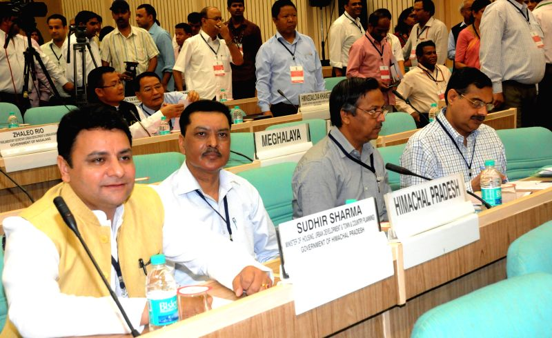 Himachal Minister for Urban Development Sudhir Sharma at the Conclave of Ministers of Urban Development & Housing of Central and State/UT governments, in New Delhi on July 3, 2014. - Development Sudhir Sharma
