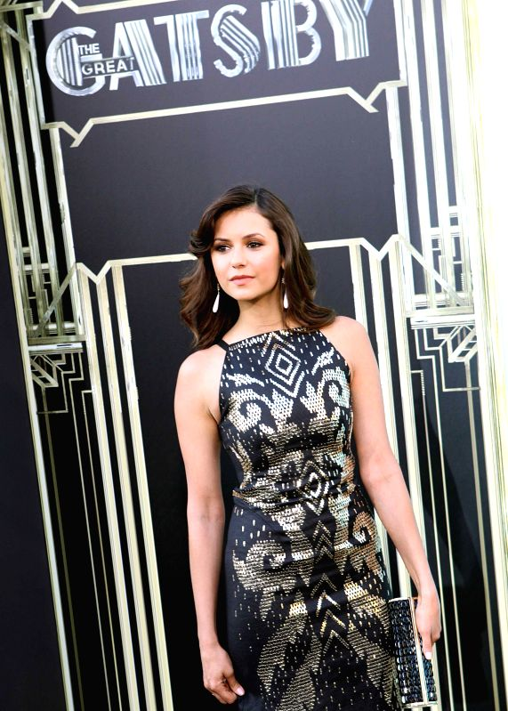 :Hollywood actress Nina Dobrev at Red Carpet Arrival for World Premiere of ``The Great Gatsby`` at Lincoln Center, Avery Fisher Hall for the Performing Arts in New York. (Photo: IANS).