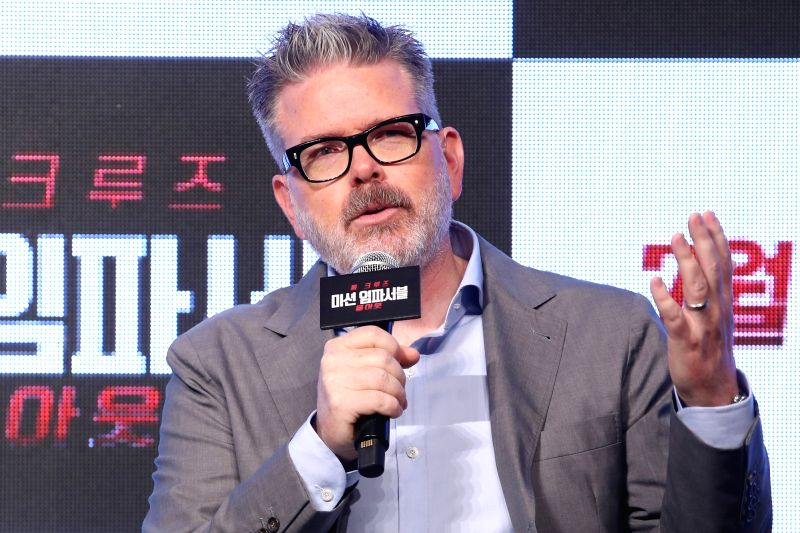 "Hollywood director Christopher McQuarrie attends a publicity event for the new movie ""Mission: ImpossibleFallout"" in Seoul on July 16, 2018. The movie will be released in South ... - Christopher M"