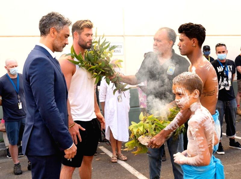 Hollywood star Chris Hemsworth has started shooting for the superhero adventure, Thor: Love And Thunder in his home turf Australia, and he was greeted with a traditional 'Welcome to Country ceremony. Hemsworth, who is most popular for his