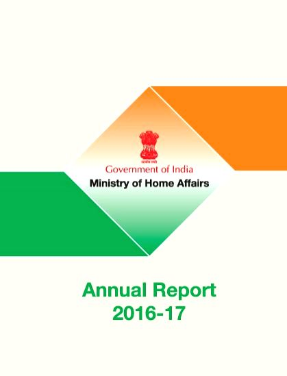 Home Ministry?s new annual report.