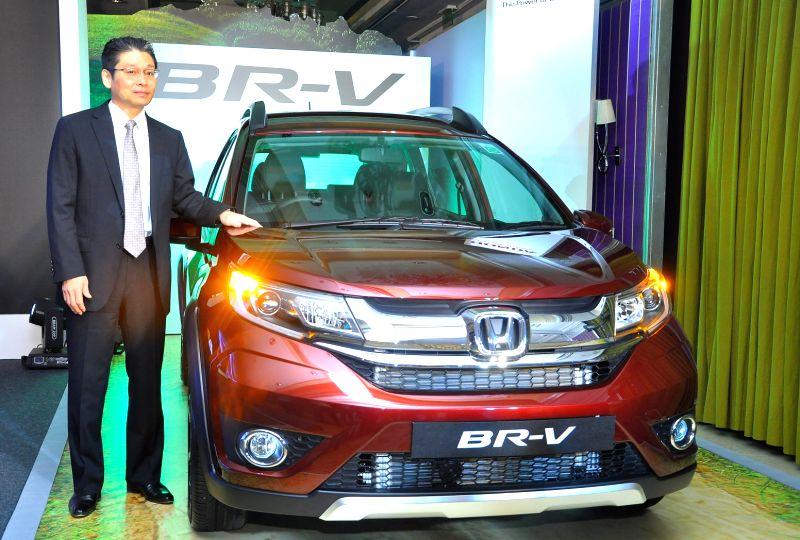 Honda Cars India Limited Director and SVP (Marketing & Sales) Hiroyuki Shimizu launches Honda BR-V in Bengaluru, on May 13, 2016.