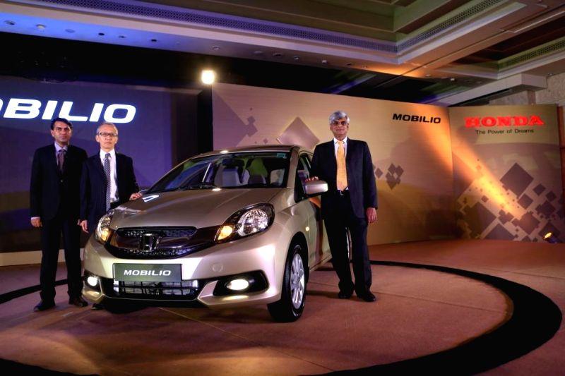 Honda Cars India Ltd Director Shigeru Yamazaki during launch of Honda Mobilio in Chennai on July 31, 2014.