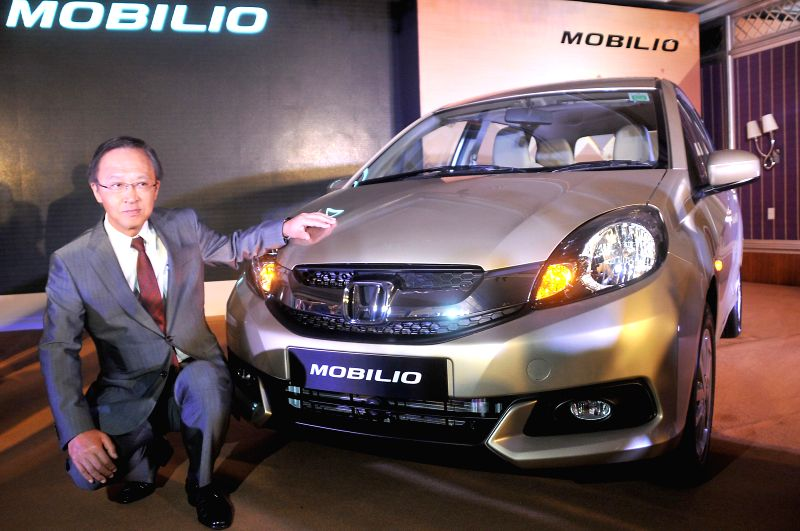 Honda Cars India President & CEO Hironori Kanayama launches Honda Mobilio in Bangalore on July 28, 2014.