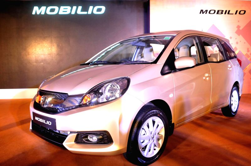 Honda's newly launched car Honda Mobilio in Bangalore on July 28, 2014.