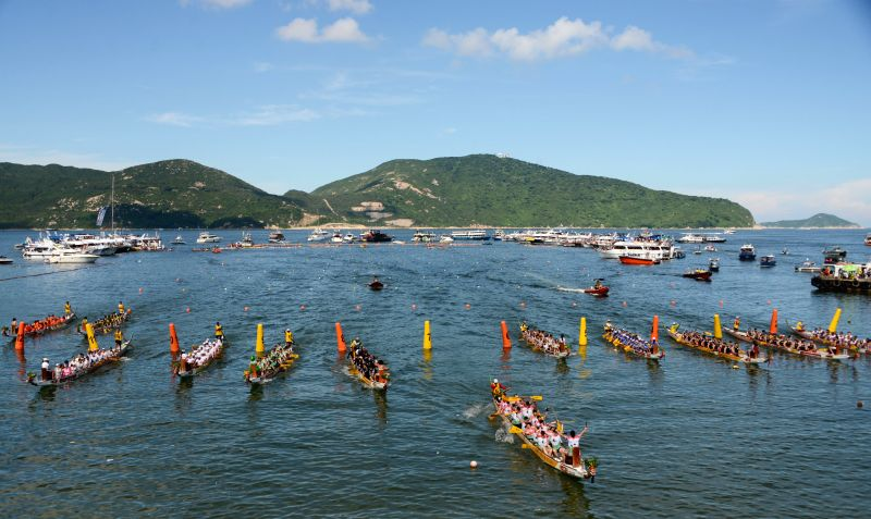 A dragon boat race is held to mark the Dragon Boat Festival, in Hong Kong, south China, June 20, 2015. The Dragon Boat Festival is observed annually on the fifth ...