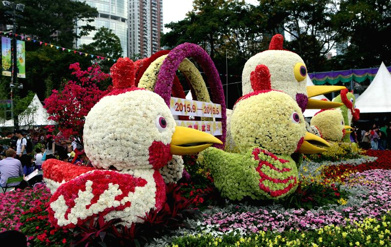 Photo taken on March 20, 2015 shows the flowers on the Hong Kong Flower Exhibition at Victoria Park in Hong Kong, south China. The Hong Kong Flower Exhibition ...