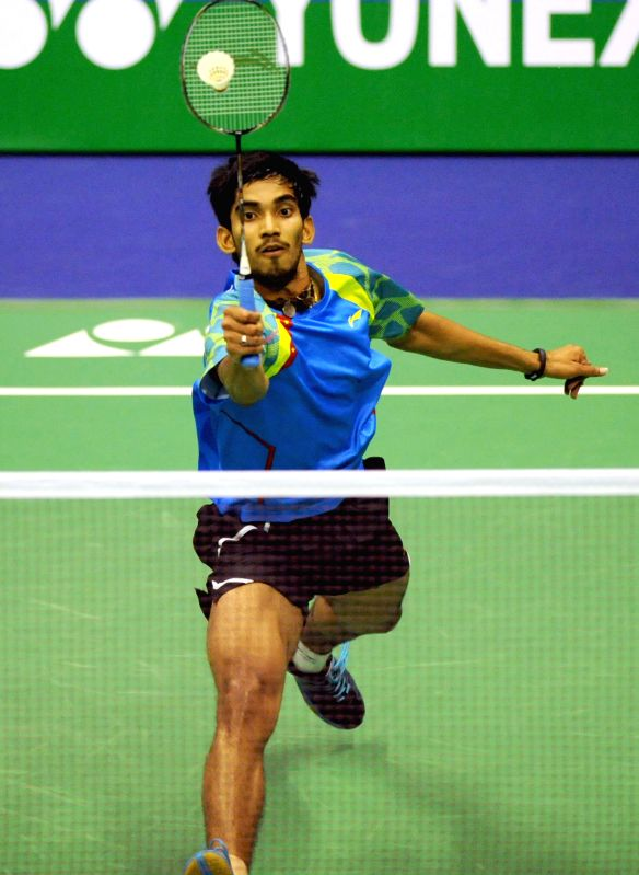 Hong Kong: The Indian player K Srikanth in action during the Hong Kong Open men's singles match at the Hong Kong Coliseum.