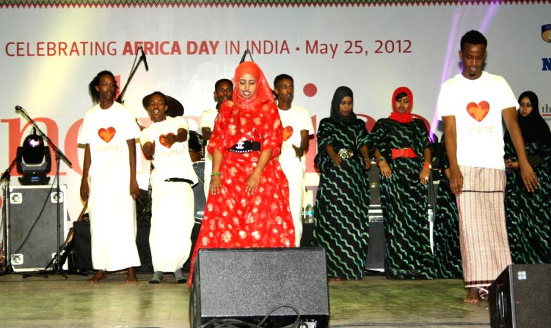 Horn of Africa, a dance troupe from Somalia at the Africa Day celebrations in New Delhi on Friday 25 May 2012.