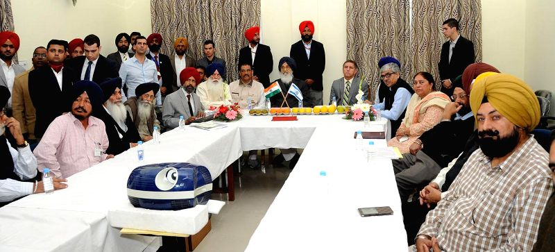 Punjab Chief Minister Parkash Singh Badal during the inauguration of Centre of Excellence for Fruits (Citrus) at Khanaura in Hoshiarpur, Punjab on Nov. 20, 2014.