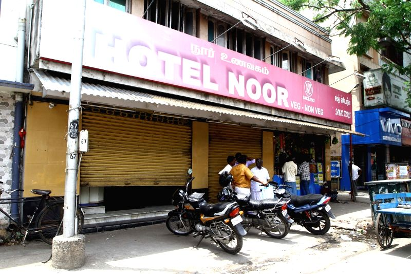 Hotels in Chennai go on a strike called by Tamil Nadu Hotels and Restaurant Association to protest against the levy of 12-28 per cent Goods and Services Tax (GST) on May 30, 2017.