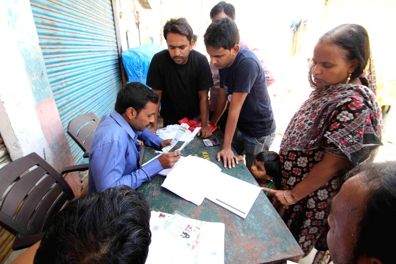 Household survey conducted by Telangana Government underway in Hyderabad on Aug 19, 2014.