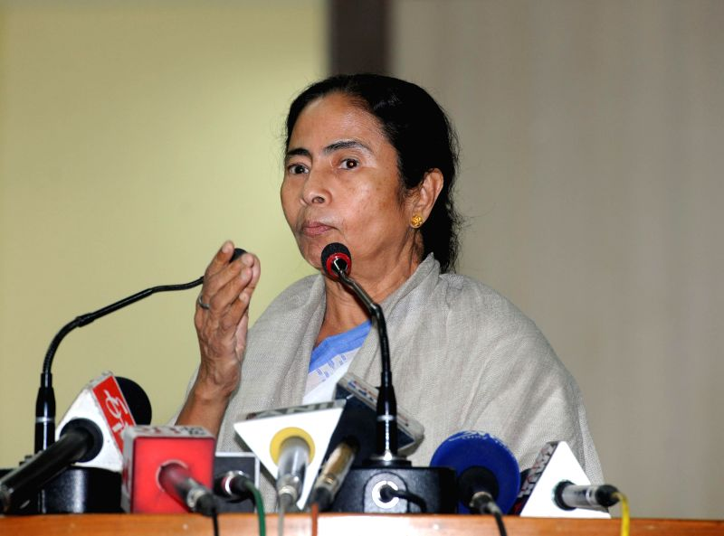 West Bengal Chief Minister Mamata Banerjee addresses a press conference regarding the arrest of state transport minister and Trinamool Congress Madan Mitra by CBI, at Nabanna in Howrah, near . - Mamata Banerjee