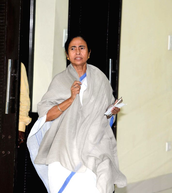 West Bengal Chief Minister Mamata Banerjee  arrives to address a press conference regarding the arrest of state transport minister and Trinamool Congress Madan Mitra by CBI, at Nabanna in ... - Mamata Banerjee