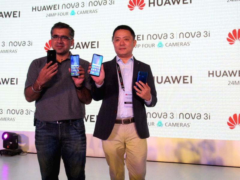 HUAWEI India Consumer Business Group Product Centre Director Allen Wang at the launch of Nova 3 and Nova 3i smartphones, in New Delhi on July 26, 2018. Huawei Consumer Business Group (CBG) ...