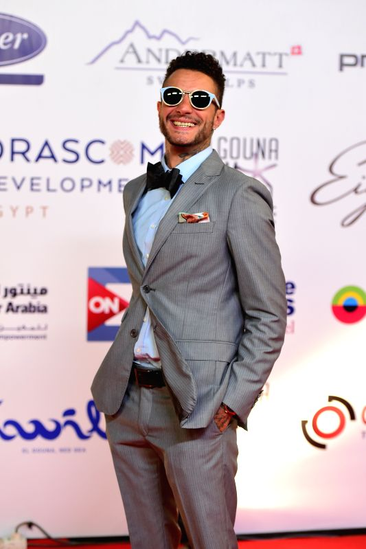 HURGHADA, Sept. 23, 2017 - Egyptian actor Ahmed El Fishawy poses for photos on the red carpet of the El Gouna Film Festival in Hurghada, Egypt on Sept. 22, 2017. The first El Gouna Film Festival ... - Ahmed E