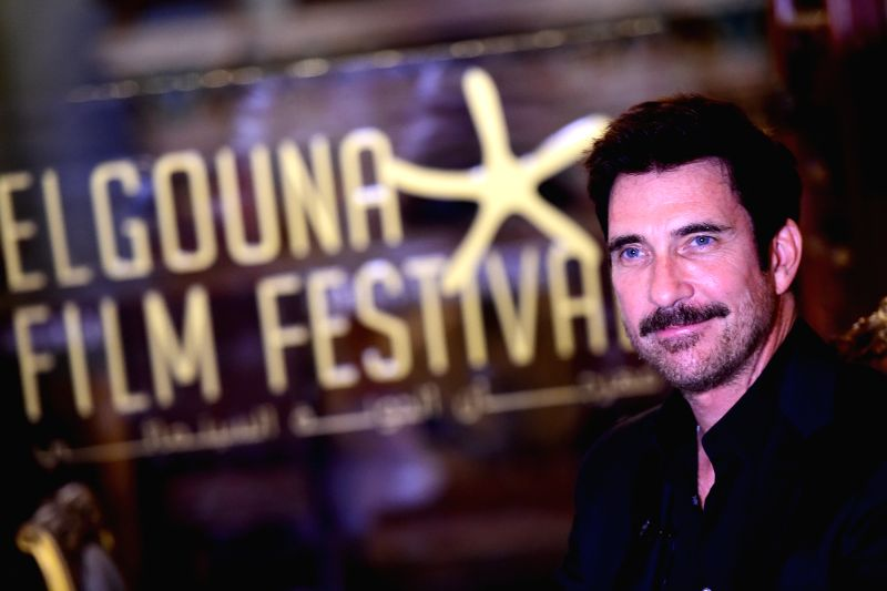 HURGHADA, Sept. 24, 2017 - Actor Dylan McDermott receives an interview during the El Gouna Film Festival in Hurghada, Egypt on Sept. 23, 2017. The first El Gouna Film Festival (GFF) kicked off on ... - Dylan M