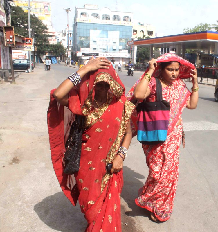 A hot day in Hyderabad on May 1, 2015.