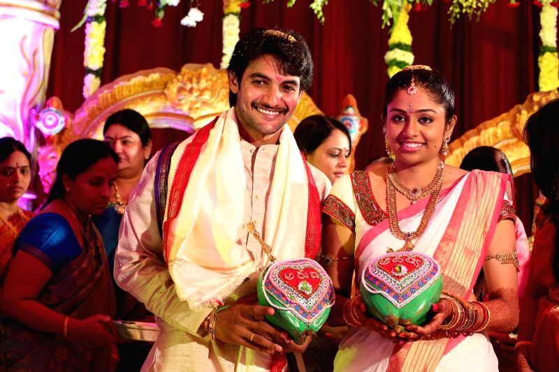 Actor Adi married Aruna early hours in Hyderabad  on Dec. 13, 2014.