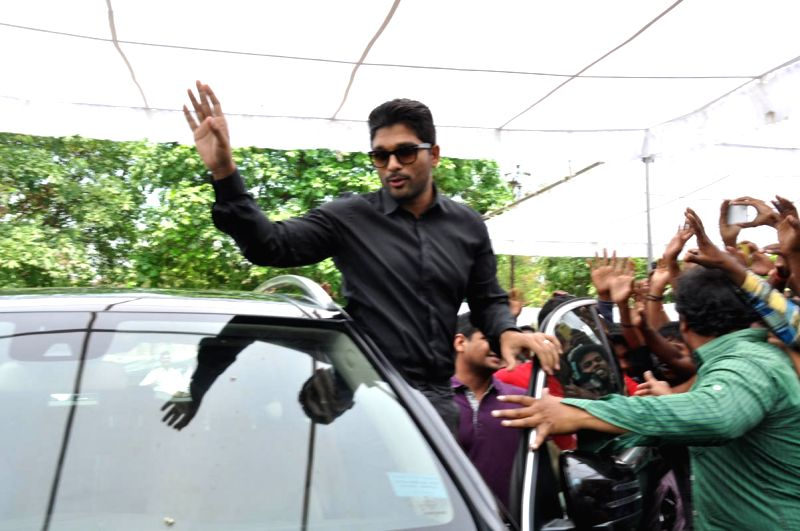 Actor Allu Arjun birthday celebrations in Hyderabad.