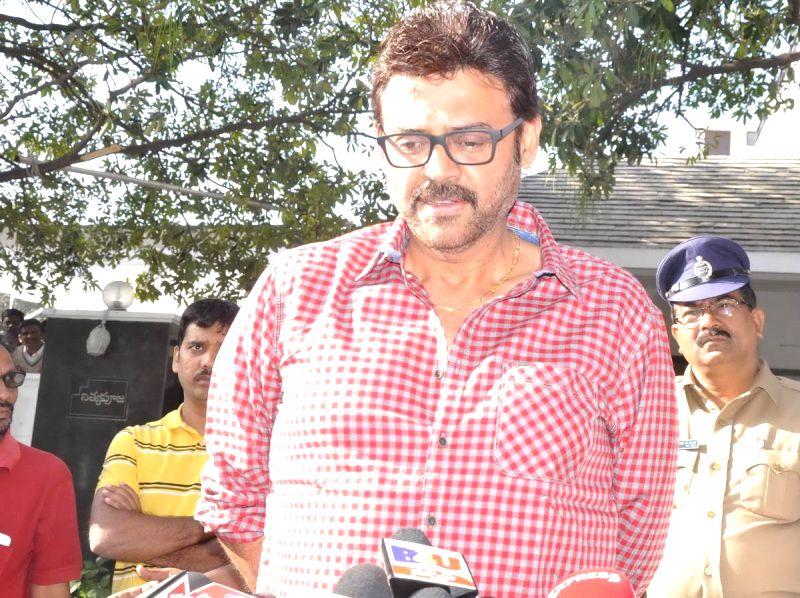 Actor Daggubati Venkatesh pays tribute to Telugu filmmaker V.B Rajendra Prasad, breathed his last Monday (12th Jan 2015) in Hyderabad, on Jan 13, 2015. Prasad was undergoing treatment in a - Daggubati Venkatesh