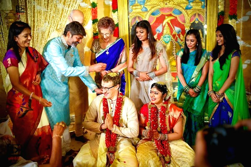 Actor Jagapati Babu's daughter Meghana marriage took place with Chad Boven at Westin Hotel recently. - Jagapati Bab