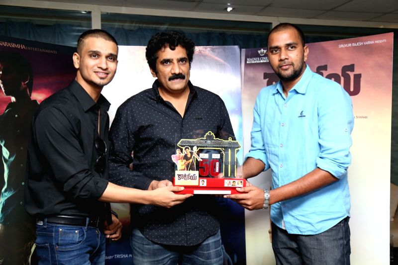 Actor Nikhil during a press meet .