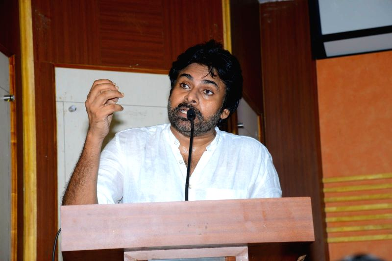 Hyderabad: Actor Pawan Kalyan during a programme in Hyderabad. (Photo: IANS)