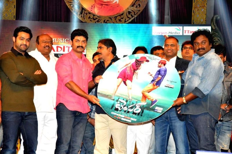 Actress Kajal acted Temper audio  release function held at Shilapa Kala Vedika in Hyderabad on 28th Jan 2015. - Kajal