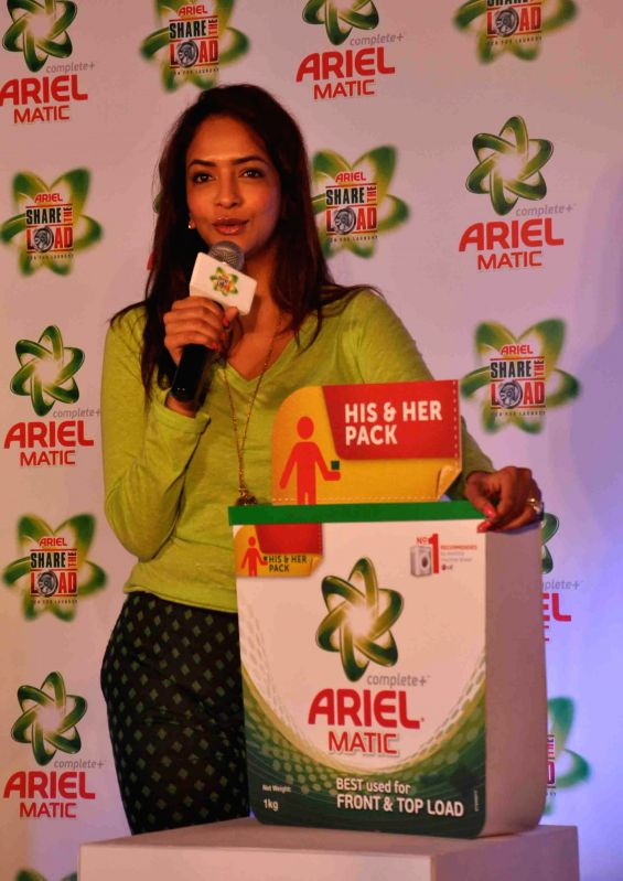 Actress Lakshmi Manchu during a programme in Hyderabad on March 5, 2015.