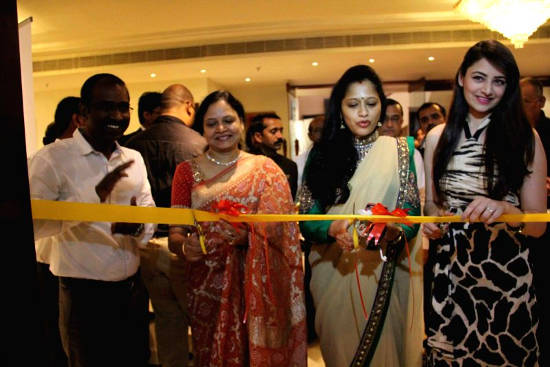 Actress Zoya Afroz during a inauguration of jewellery exhibition in Hyderabad on April 11, 2015.