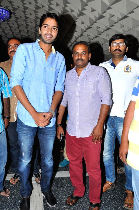 Allari Naresh acted Bandipotu released, film unit visited Sandhra 70mm theatre at RTC 'X' Roads in Hyderabad .