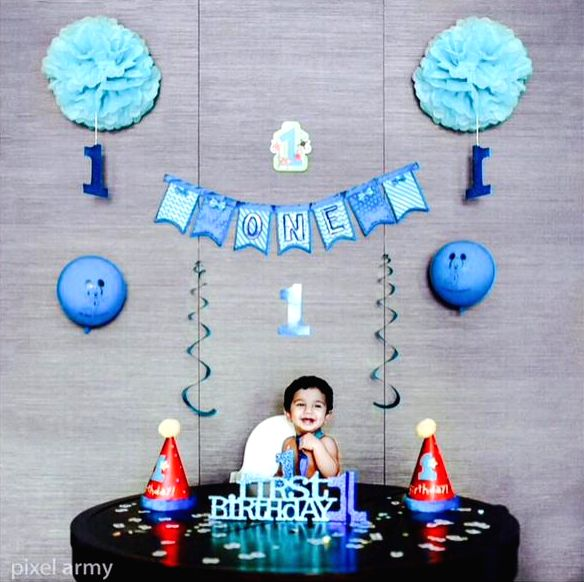 Allu Arjun son Ayaan`s 1st birthday.