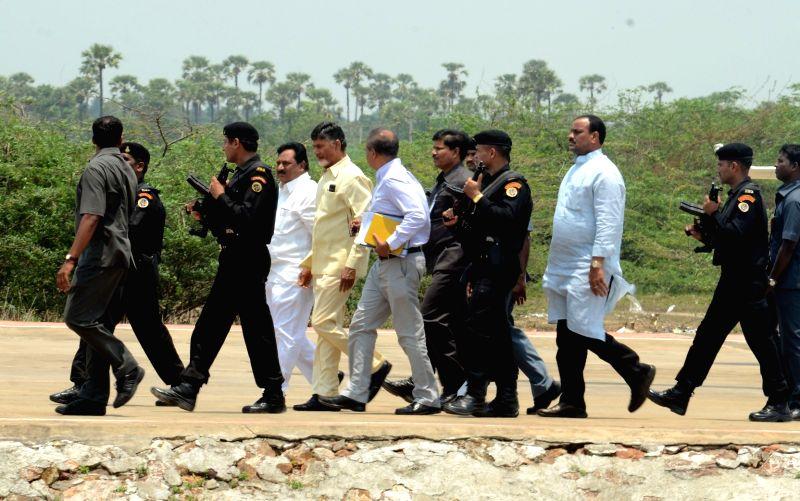 Andhra Pradesh Chief Minister N. Chandrababu Naidu in Hyderabad on May 1, 2015. - N. Chandrababu Naidu