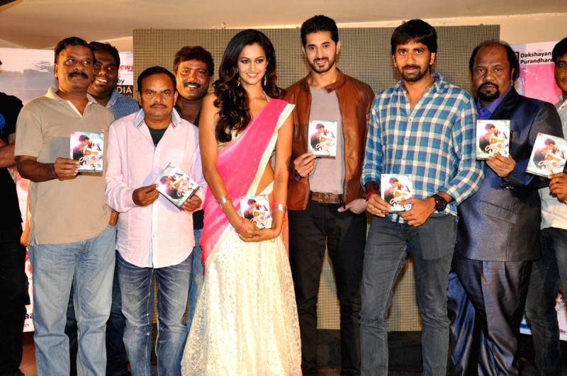 Audio launch of Telugu movie Yavvanam Oka Fantacy in Hyderabad on 12 April, 2015.