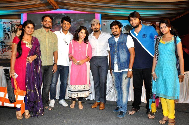 Audio releasing of Telugu movie Naalo Okadu in Hyderabad on 14 April, 2015.