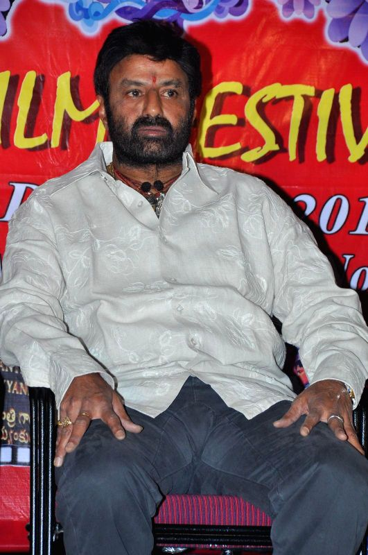 Balakrishna attended Bapu film festival held at Prasad Labs.