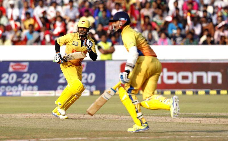 CCL 5 Final Telugu Warriors Vs Chennai Rhinos Match at Rajiv Gandhi International Stadium in Uppal, Hyderabad on Sunday, 1 February.