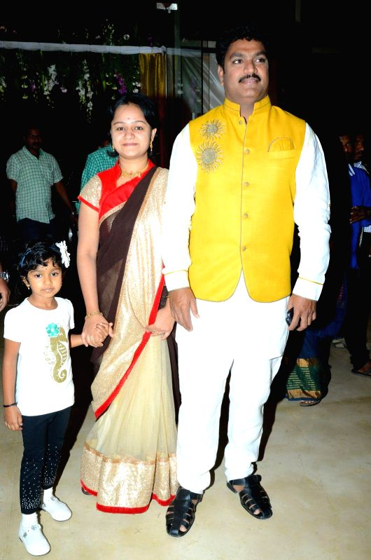 Comedian Shiva Reddy attended comedian Ali borther Khayyym`s marriage reception at Sandhya Convention Centre at Gachibowli in Hyderabad. - Shiva Reddy