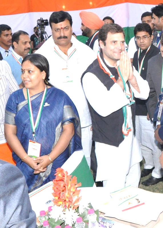 Congress vice-president Rahul Gandhi during a party programme in Hyderabad on Dec 5, 2014.