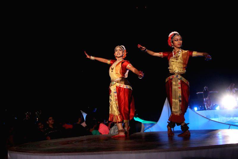 Dancers participate in Kuchipudi Festival at Lal Bahadur Shastri Stadium in Hyderabad on Dec 28, 2014.