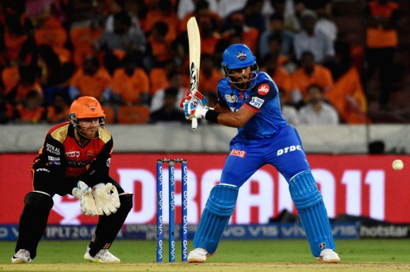 Hyderabad: Delhi Capitals' skipper Shreyas Iyer in action during the 30th match of IPL 2019 between Sunrisers Hyderabad and Delhi Capitals at Rajiv Gandhi International Stadium in Hyderabad on April 14, 2019. (Photo: IANS)
