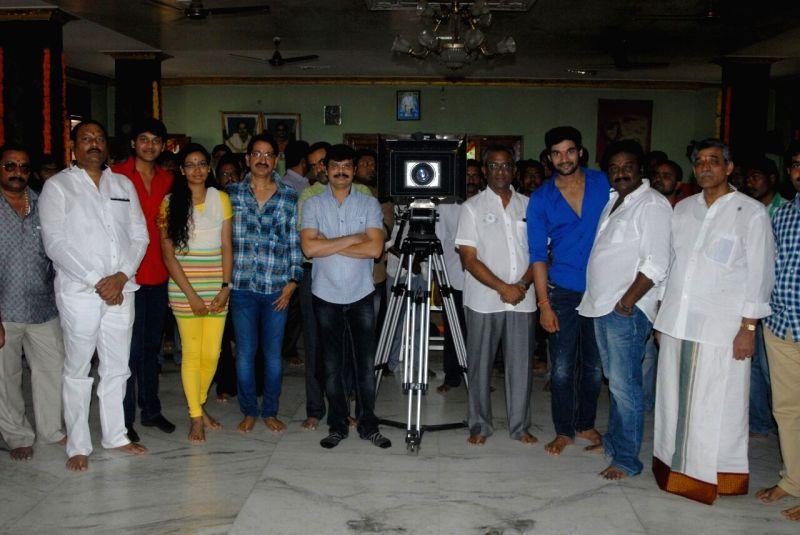 Director Bheemineni Srinivasa Rao directing new film launched at Sai Baba Temple - Film Nagar in Hyderabad.