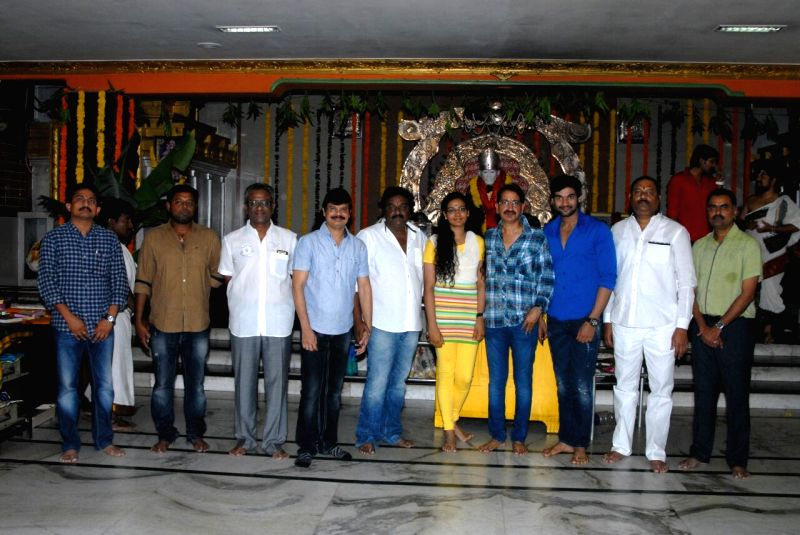Director Bheemineni Srinivasa Rao directing new film launched at Sai Baba Temple - Film Nagar in Hyderabad.