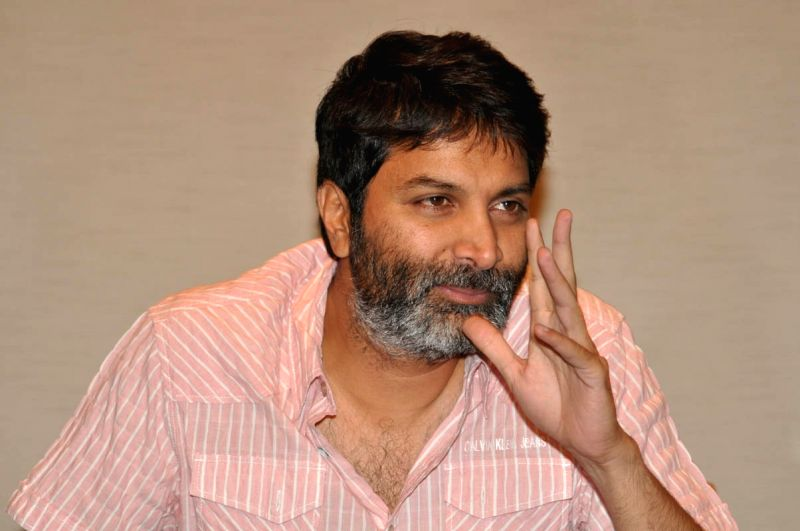 Director Trivikram Srinivas spoke to the press on April 11, 2015.