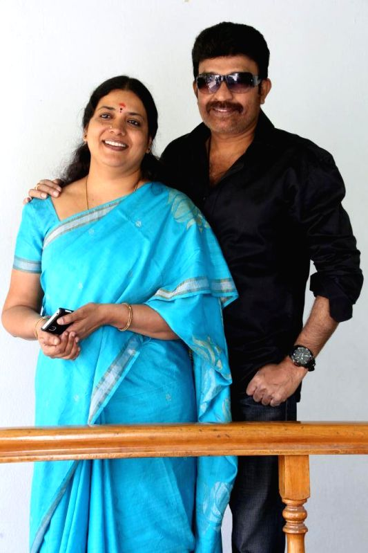 Dr.Rajasekhar and jeevitha Press Meet About New Film Launching Raja Shekar Jeevitha.