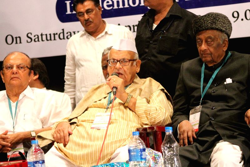 Former Governor Dr Aziz Qureshi during the inauguration of Andhra Pradesh and Telangana educational conference organised by All India Muslim Education Society in Hyderabad, on April 18, ...